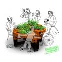 Jardinière avec Système Elévateur