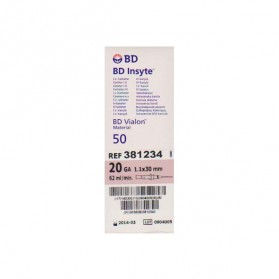 Catheter I.V BD Insyte 1,1X30mm 20G (Rose Pale)