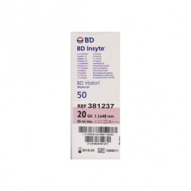 Catheter I.V BD Insyte 1,1X48mm 20G (Rose)