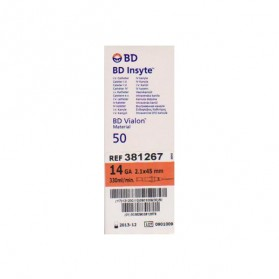 Catheter I.V BD Insyte 2,1X45mm 14G (Orange)
