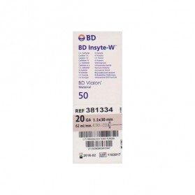 Catheter I.V BD Insyte W 1,1X30mm 20G (Rose Pale)